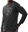 "Chicago Bears Majestic NFL ""Up & Over"" Long Sleeve Men's Black T-Shirt"