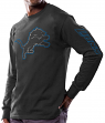 "Detroit Lions Majestic NFL ""Up & Over"" Long Sleeve Men's Black T-Shirt"