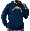 """San Diego Chargers Majestic NFL """"Tek Patch"""" Hooded Sweatshirt - Navy"""