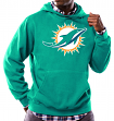 "Miami Dolphins Majestic NFL ""Tek Patch"" Hooded Sweatshirt - Aqua"