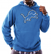 "Detroit Lions Majestic NFL ""Tek Patch"" Hooded Sweatshirt - Blue"