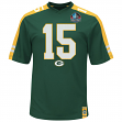 "Bart Starr Green Bay Packers Majestic NFL  ""HOF Hashmark"" Jersey Shirt"