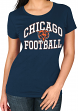 "Chicago Bears Women's Majestic NFL ""Franchise Fit"" Short Sleeve T-shirt"