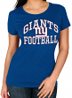 "New York Giants Women's Majestic NFL ""Franchise Fit"" Short Sleeve T-shirt"