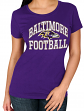 "Baltimore Ravens Women's Majestic NFL ""Franchise Fit"" Short Sleeve T-shirt"