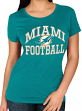 "Miami Dolphins Women's Majestic NFL ""Franchise Fit"" Short Sleeve T-shirt"