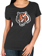 "Cincinnati Bengals Women's Majestic NFL ""Skinny Post"" Short Sleeve T-shirt"