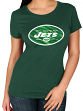 "New York Jets Women's Majestic NFL ""Skinny Post"" Short Sleeve T-shirt"