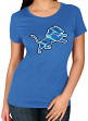 "Detroit Lions Women's Majestic NFL ""Skinny Post"" Short Sleeve T-shirt"