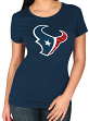 "Houston Texans Women's Majestic NFL ""Skinny Post"" Short Sleeve T-shirt"