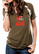 "Cleveland Browns Women's Majestic NFL ""Go For Two"" Short Sleeve T-shirt"