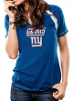 "New York Giants Women's Majestic NFL ""Go For Two"" Short Sleeve T-shirt"
