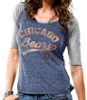"Chicago Bears Women's Majestic NFL ""Goal To Win"" Half Sleeve T-shirt"