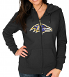 "Baltimore Ravens Women's Majestic NFL ""Win Big"" Full Zip Hooded Sweatshirt"