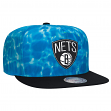 "Brooklyn Nets Mitchell & Ness NBA ""Surf Camo"" Snap Back Hat"