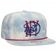 "New York Nets Mitchell & Ness NBA ""Lite Denim"" Adjustable Snap Back Hat"