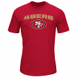 "San Francisco 49ers Majestic NFL ""Line of Scrimmage"" Men's T-Shirt - Red"