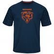 "Chicago Bears Majestic NFL ""Skill in Motion"" Men's Cool Base T-Shirt"