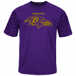 "Baltimore Ravens Majestic NFL ""Skill in Motion"" Men's Cool Base T-Shirt"