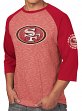 "San Francisco 49ers Majestic NFL ""Great Move"" Men's 3/4 Sleeve Tri-Blend T-Shirt"