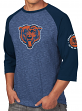 "Chicago Bears Majestic NFL ""Great Move"" Men's 3/4 Sleeve Tri-Blend T-Shirt"