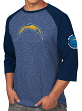 "San Diego Chargers Majestic NFL ""Great Move"" Men's 3/4 Sleeve Tri-Blend T-Shirt"