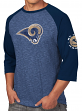 "St. Louis Rams Majestic NFL ""Great Move"" Men's 3/4 Sleeve Tri-Blend T-Shirt"