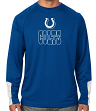 "Indianapolis Colts Majestic NFL ""Cutting"" Men's Cool Base Long Sleeve Shirt"