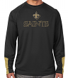 "New Orleans Saints Majestic NFL ""Cutting"" Men's Cool Base Long Sleeve Shirt"