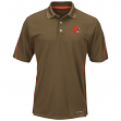 """Cleveland Browns Majestic """"Field Classic"""" Men's Cool Base Polo Shirt - Brown"""