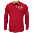 "San Francisco 49ers Majestic ""Ready"" Men's 1/4 Zip Therma Base Pullover Shirt"