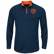 "Chicago Bears Majestic ""Ready"" Men's 1/4 Zip Therma Base Pullover Shirt"