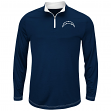 "San Diego Chargers Majestic ""Ready"" Men's 1/4 Zip Therma Base Pullover Shirt"