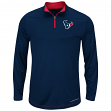 "Houston Texans Majestic ""Ready"" Men's 1/4 Zip Therma Base Pullover Shirt"