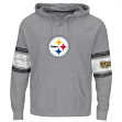 "Pittsburgh Steelers Majestic NFL ""Winning"" Men's Hooded Sweatshirt - Gray"