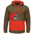 "Cleveland Browns Majestic NFL ""Coin Toss"" Men's Pullover Hooded Sweatshirt"