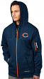 "Chicago Bears Majestic ""Action"" Men's F/Z Therma Base Hooded Sweatshirt"