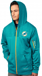 "Miami Dolphins Majestic ""Action"" Men's F/Z Therma Base Hooded Sweatshirt"
