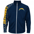 "San Diego Chargers Majestic NFL ""Moves"" Men's F/Z Therma Base Sweatshirt"