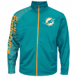 "Miami Dolphins Majestic NFL ""Moves"" Men's F/Z Therma Base Sweatshirt"