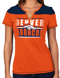 "Denver Broncos Women's Majestic NFL ""Football Miracle"" Fashion T-shirt"