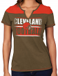 """Cleveland Browns Women's Majestic NFL """"Football Miracle"""" Fashion T-shirt"""