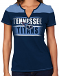 "Tennessee Titans Women's Majestic NFL ""Football Miracle"" Fashion T-shirt"
