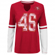 "San Francisco 49ers Women's Majestic NFL ""Kickoff"" L/S Notch Neck Shirt"