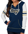 "St. Louis Rams Women's Majestic NFL ""Touchdown"" Pullover Hooded Sweatshirt"