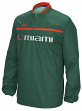Miami Hurricanes Adidas 2015 Sideline 1/4 Zip Climalite Convertible Jacket