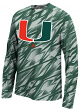 "Miami Hurricanes Adidas ""Shock Energy"" Climalite Long Sleeve Training Shirt"