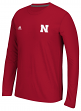"Nebraska Cornhuskers Adidas NCAA 2015 ""Primary Screen"" L/S Shirt"