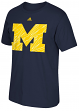 "Michigan Wolverines Adidas NCAA ""Loud Logo"" Men's Short Sleeve T-Shirt"