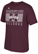 "Mississippi State Bulldogs Adidas NCAA ""Big Pattern"" Men's Short Sleeve T-Shirt"